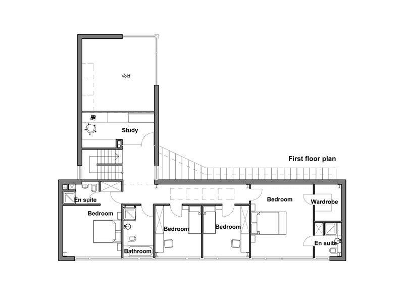Plano planta alta casas pinterest metro cuadrado for Viviendas de una planta modernas