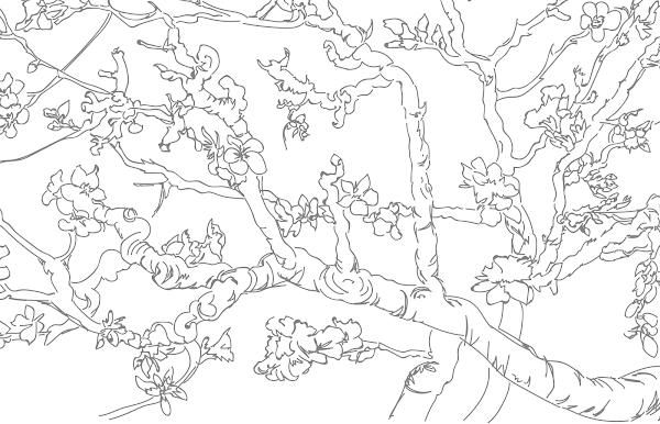 Van Gogh Colouring Pages Van Gogh Museum In 2020 Van Gogh Coloring Van Gogh Van Gogh Almond Blossom