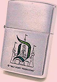 "Photo of Vintage Disneyland ""D"" Zippo Lighter Walt Disney Productions Full Size, Disney Lighter"