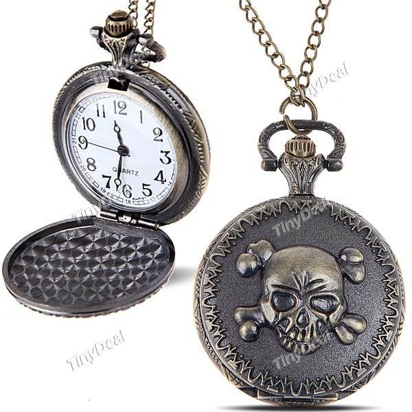Elegant Quartz Pocket Watch Portable Analog Watch Timepiece with Chain