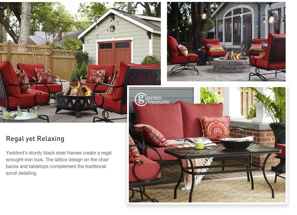 With A Lattice Back Chair And Traditional Scroll Details On Chair Backs And Arms Yorkford Offers The Loo Outdoor Furniture Sets Deck Decorating Lattice Design