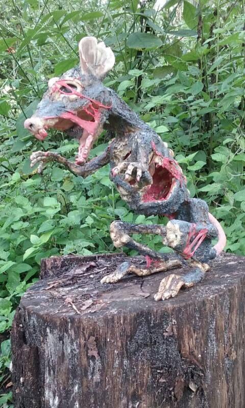 corpsed Halloween rat Halloween props diy in 2018 Halloween