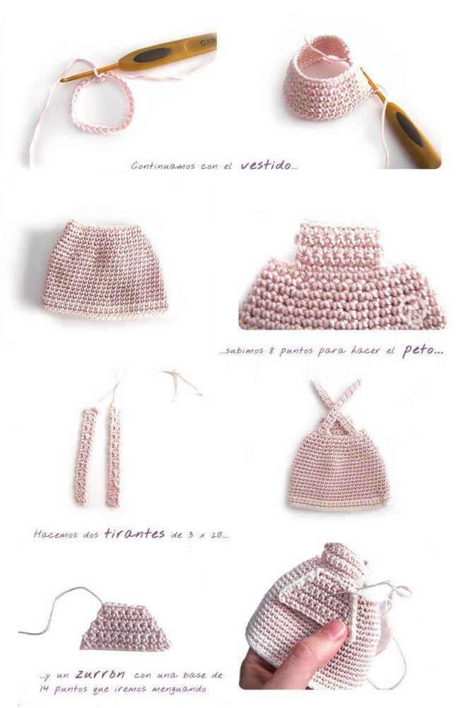 Peluche de crochet conejita de orejas largas - Amigurumi | muñecas ...