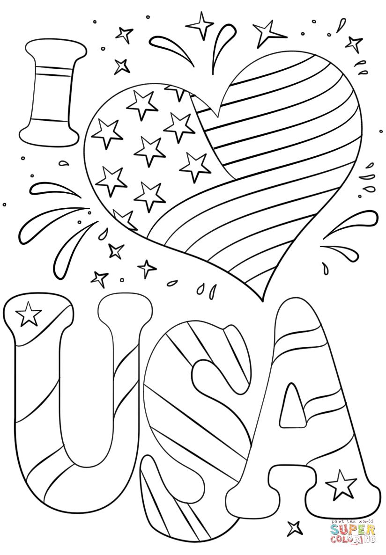 I Love Usa Coloring Page Free Printable Coloring Pages Memorial Day Coloring Pages Flag Coloring Pages Free Printable Coloring Pages