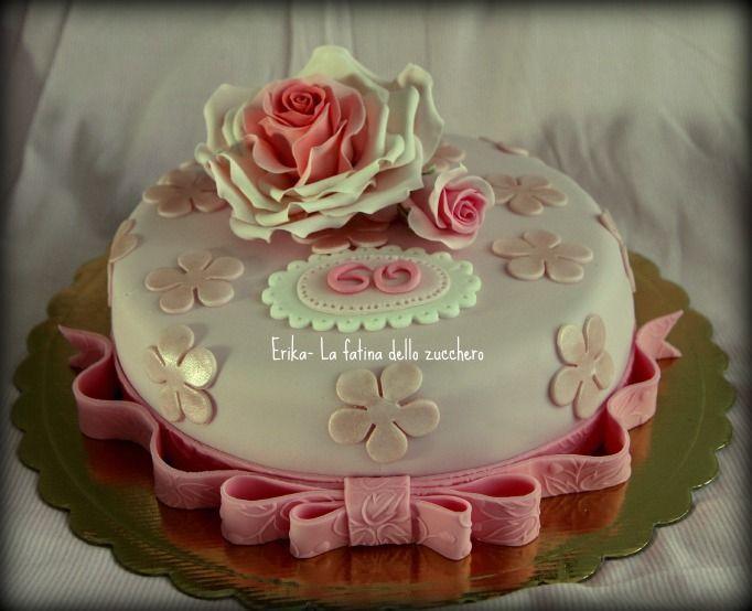 Torta di compleanno per 60 anni torte nel 2019 cake for Decorazioni per torta 60 anni