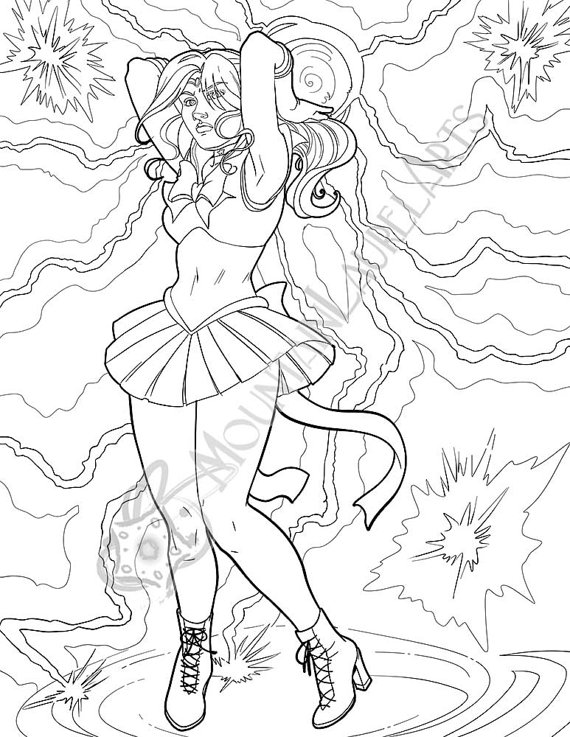 Sailor Jupiter Adult Coloring Page