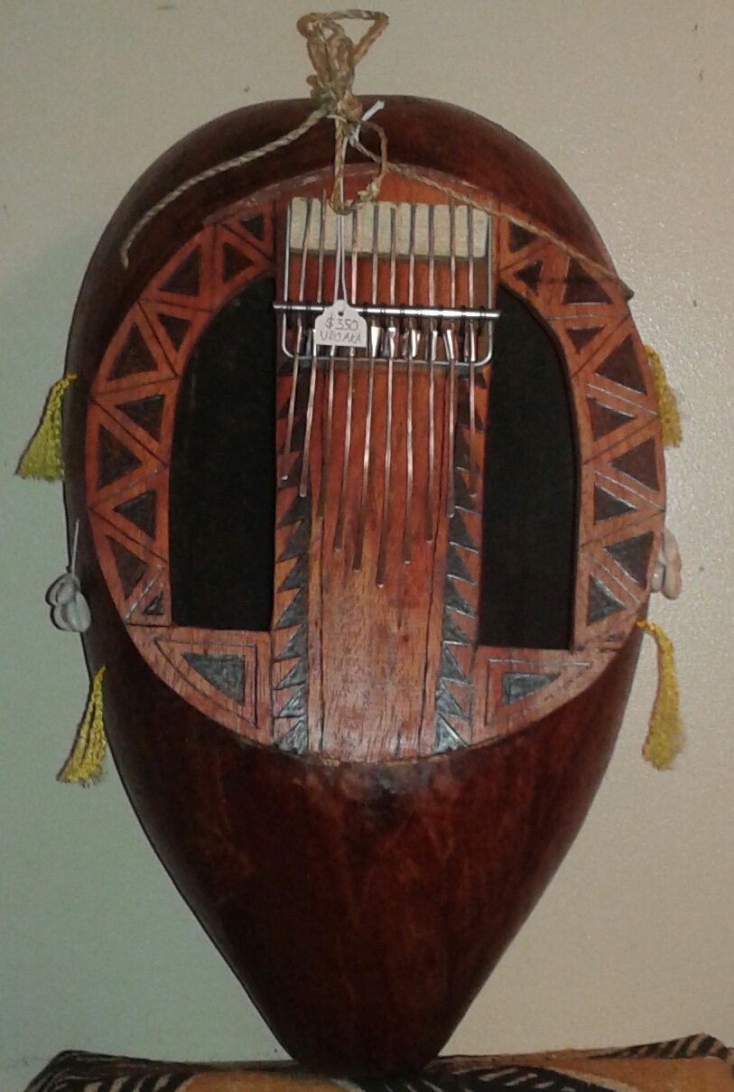 """West African-style """"thumb piano"""" (ubo-aka) by PanAfricanArts on Etsy"""