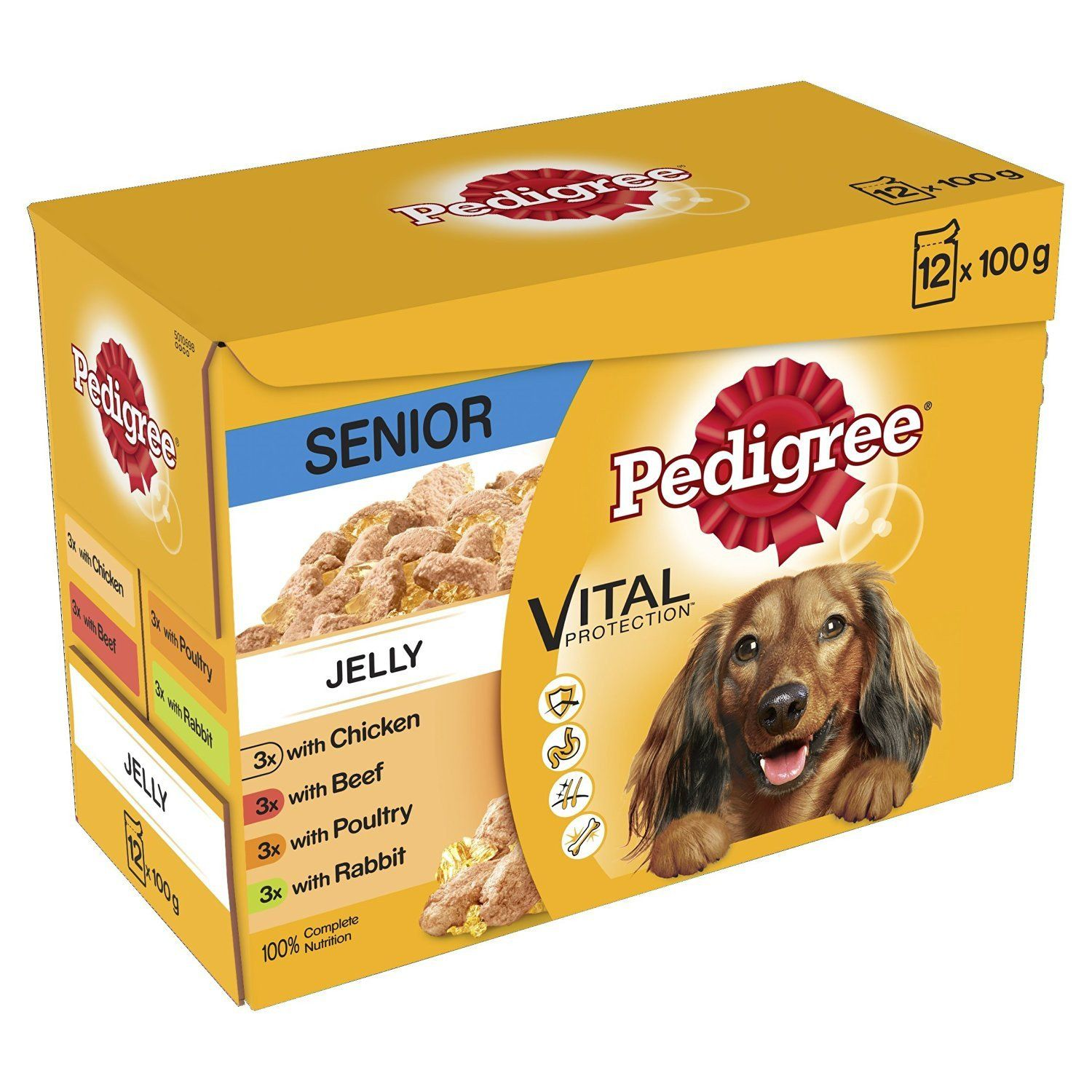 Dog Food Pedigree Pouches In Jelly Or Gravy 48 Pouches Dog Food