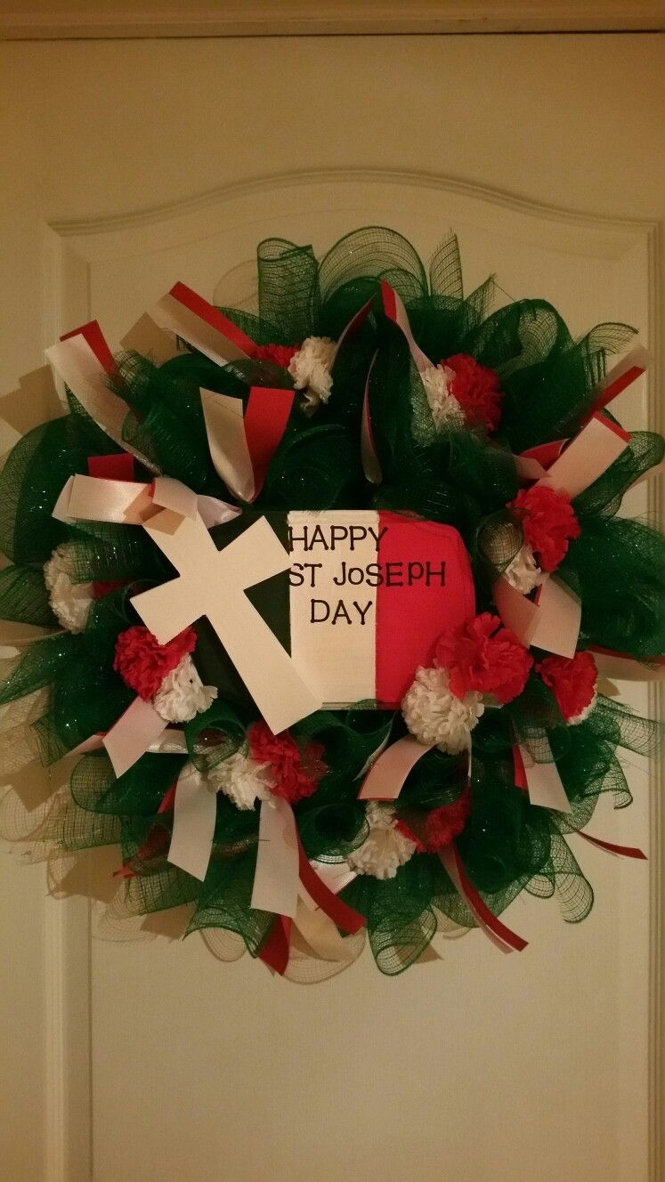 Happy st joseph day wreath italian food pinterest wreaths st
