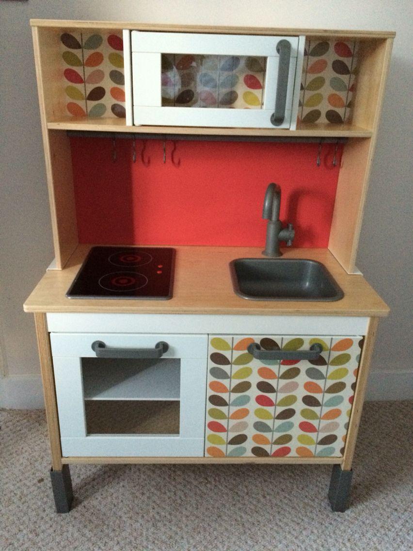 ikea duktig kitchen orla kiely hack play kitchen pinterest orla kiely and kitchens. Black Bedroom Furniture Sets. Home Design Ideas