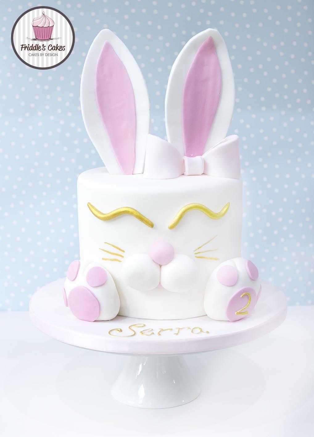 Enjoyable Rabbit Birthday Cake Friddles Cakes Bunny Birthday Cake Birthday Cards Printable Riciscafe Filternl