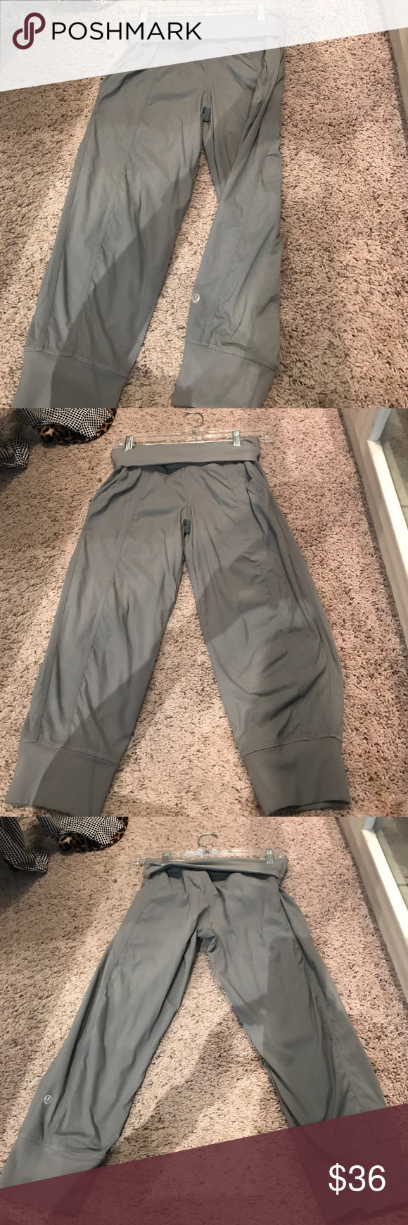Pants Grey Fold over waist Lululemon joggers. New condition lululemon athletica Pants Track Pants & Joggers