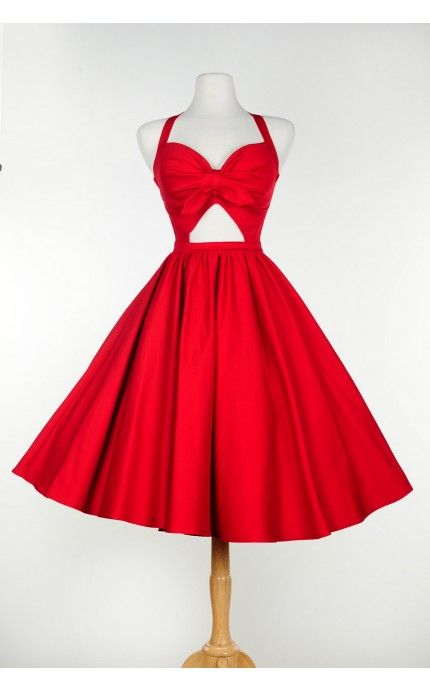 Renee Dress in Red by Pinup Couture