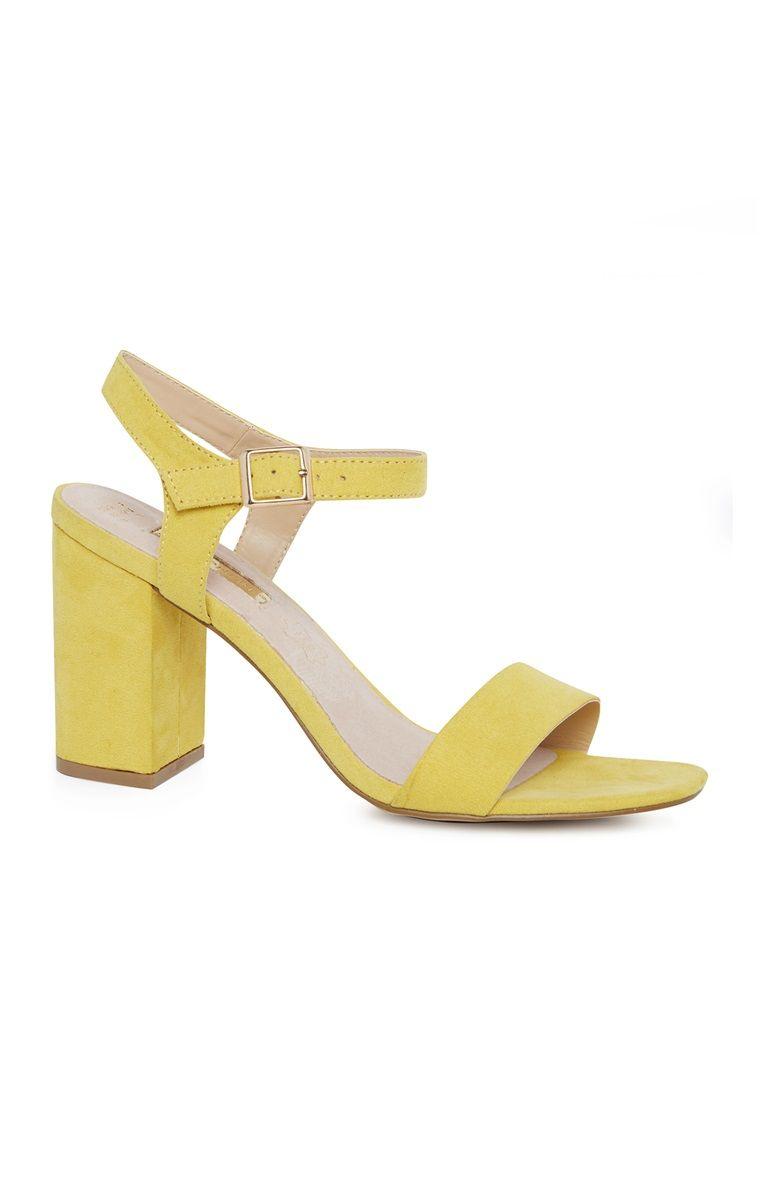 caa4f0df277 Primark - Yellow Block Heel Sandal | outfit inspo | Block heels ...