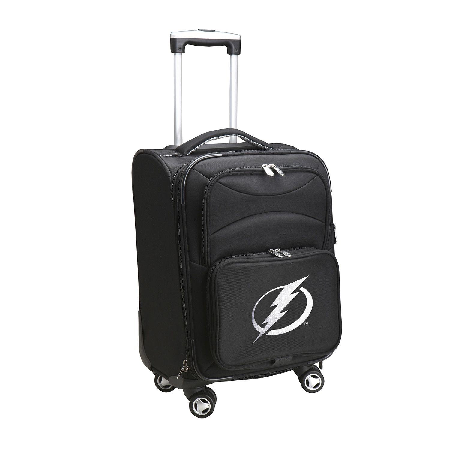 Denco Sports Tampa Bay Lightning Nylon 20-inch Carry-on Spinner Suitcase