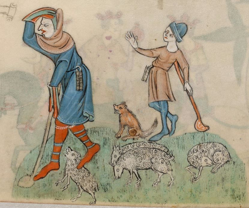Psalter The Luttrell Psalter With Calendar And Additional