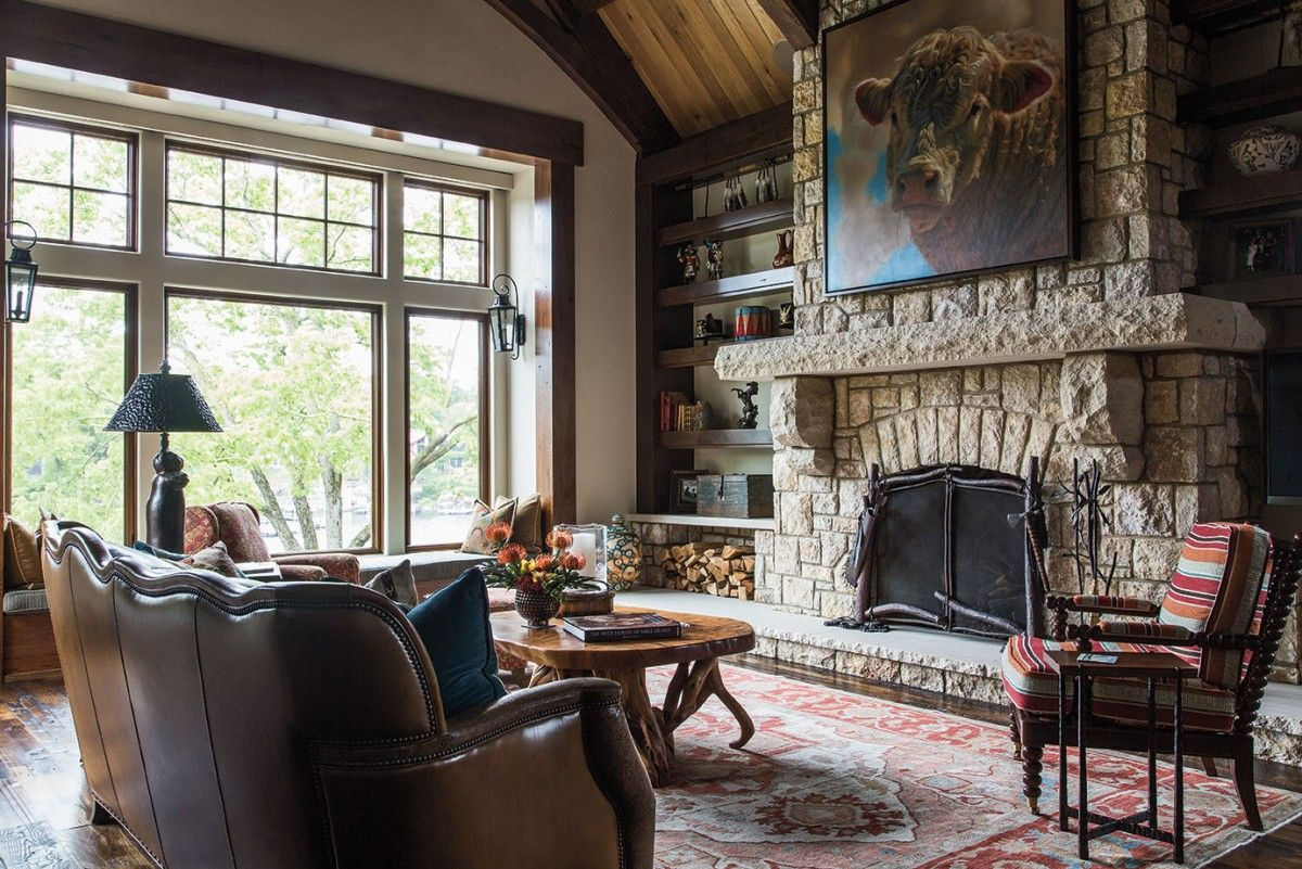 Madden mcfarland designer pat conner helps a kansas city family create a vacation home that perfectly melds life at the lake with a dash of ranch house