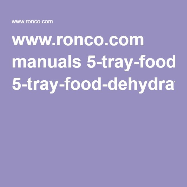 Ronco manuals 5 tray food dehydratorpdf recipes to try ronco manuals 5 tray food dehydratorpdf forumfinder Images