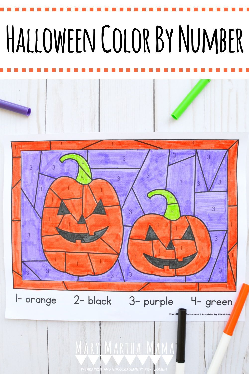 Halloween Color By Number Mary Martha Mama in 2020