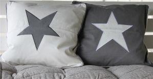 Tyynynpäällinen Tähti 2 eri mallia harmaa 50*50 cm