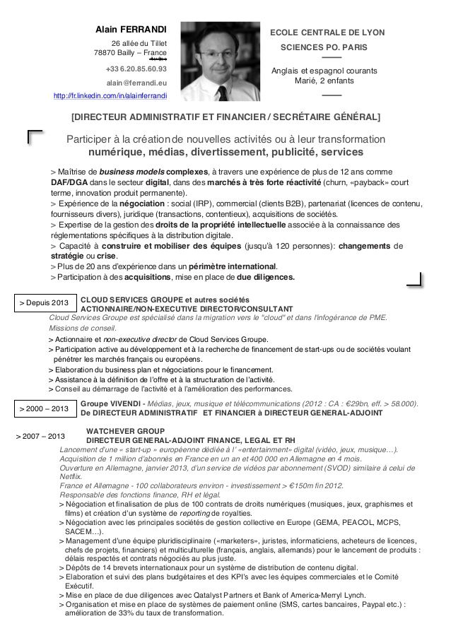 exemple de cv assistant administratif et financier