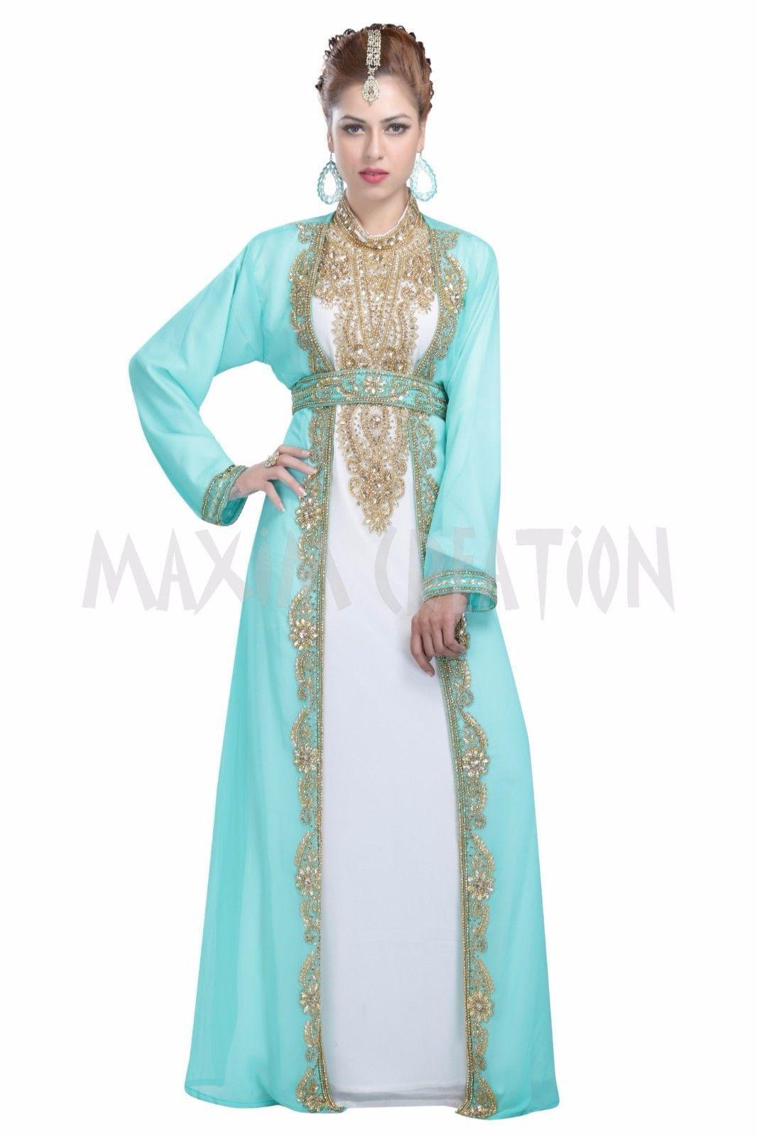 a54ffdc2a2 Elegant Moroccan Arabic Caftan Design Full Sleeve Thobe For Women 5971