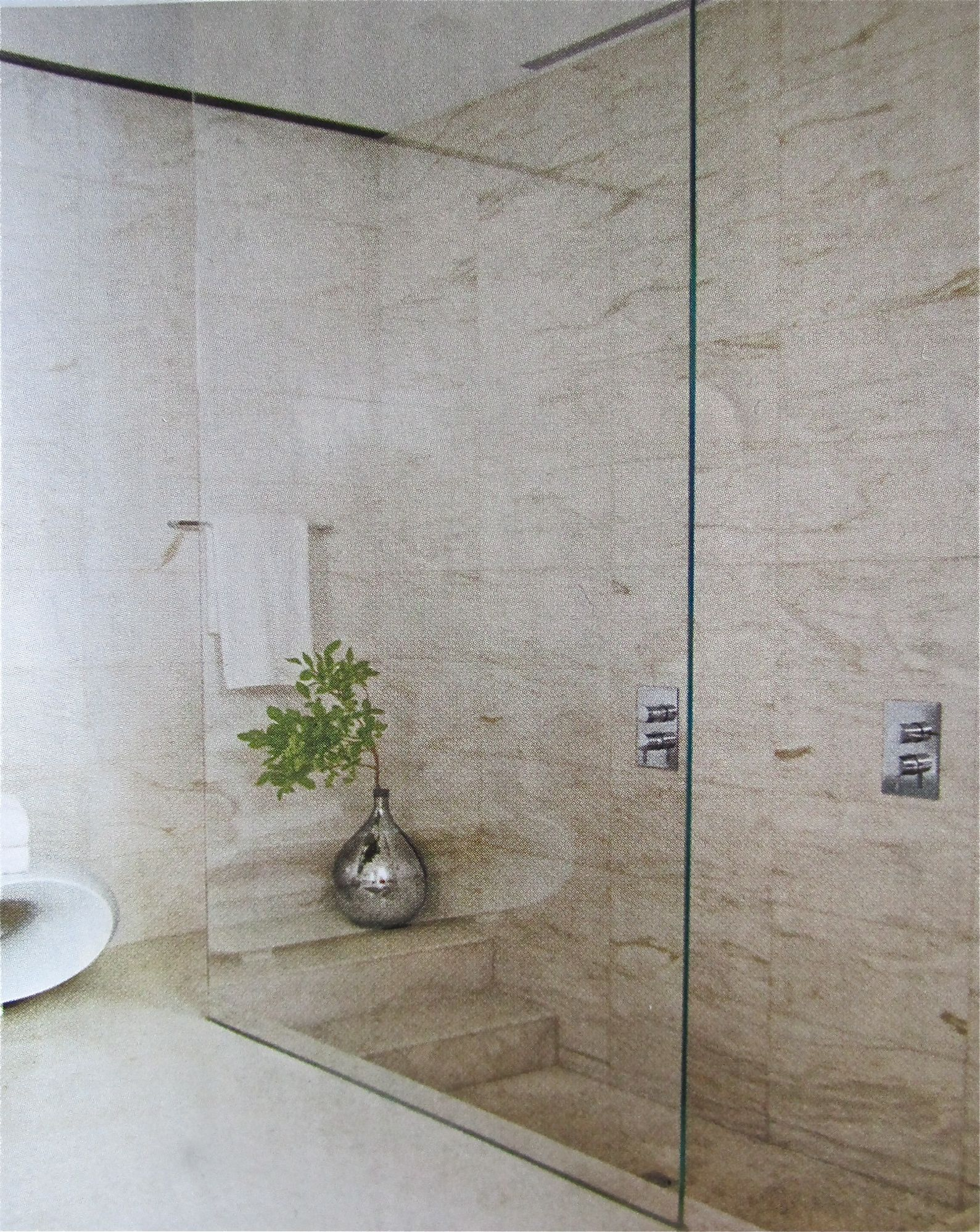 Step down shower making a splash pinterest bath - How to put down tile in bathroom ...