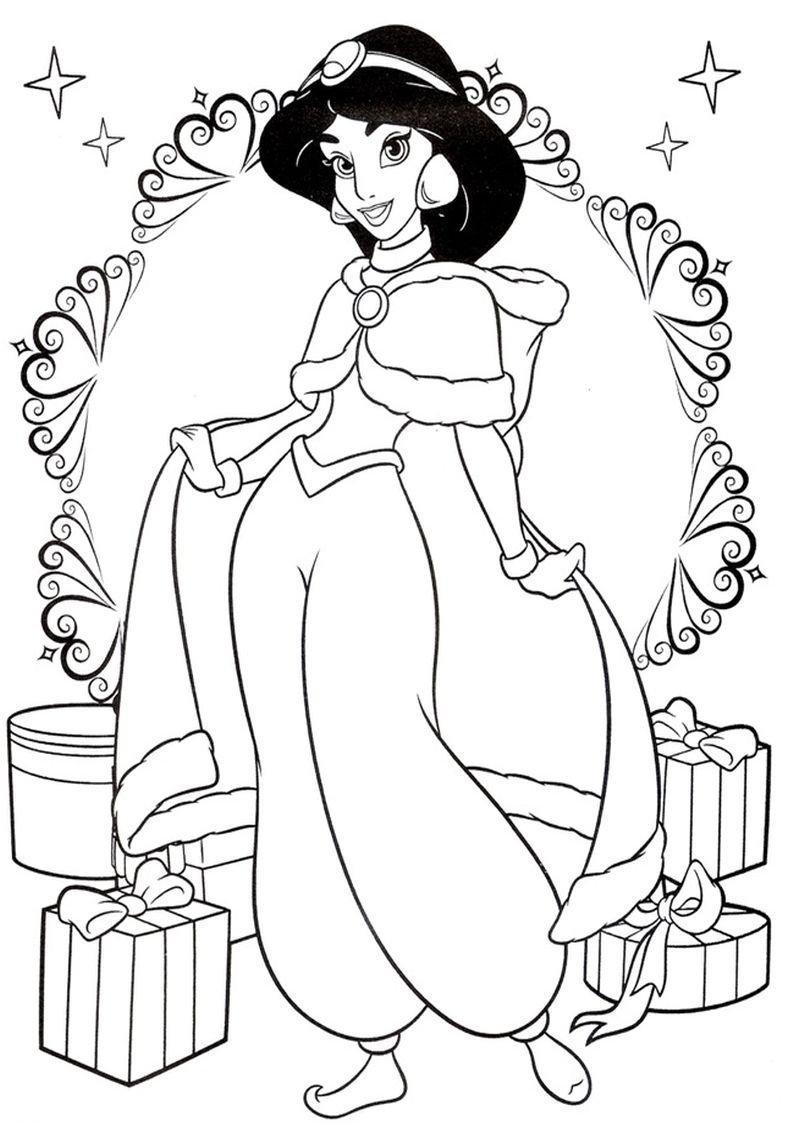 Kolorowanka Dzasmina Z Bajki Aladyn Nr 19 Dibujos Bonitos Para Colorear Dibujos Sencillos Disney Dibujos De Navidad Para Imprimir