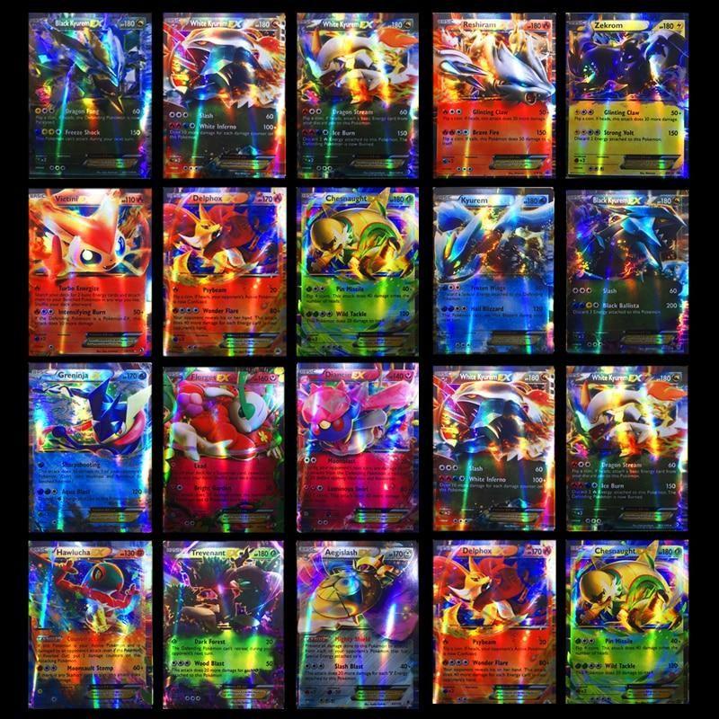 300pc gx 20 60 100pcs mega shining cards game battle