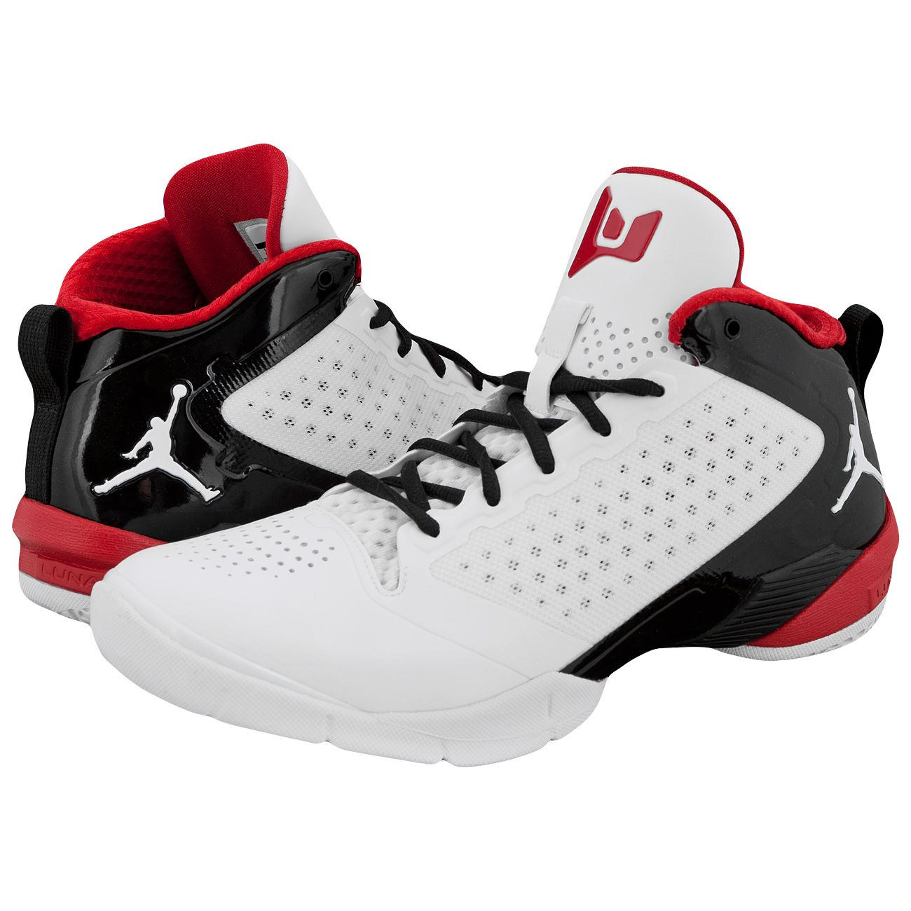d225267560e6 Nike Air Jordan Fly Wade 2 Basketball Shoes White Varsity Red Black ...