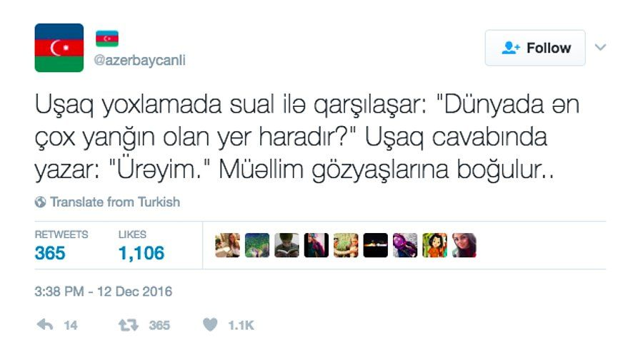 Azerbaycanli Hesabindan Size Azericeyi Daha Da Sevdirecek 19 Yaxsi Tweet Azerice Mizah Alintilari Bir Sozleri