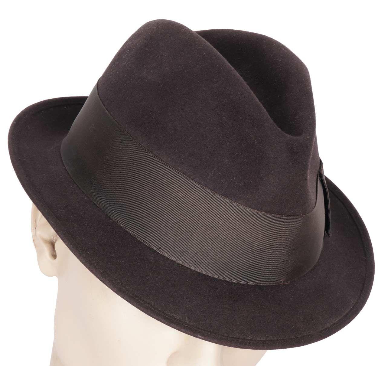 Vintage 1950s Stetson Twenty Fedora Hat Trilby Style Size Large 7 3 8  Trilby Hat 43220354c6f