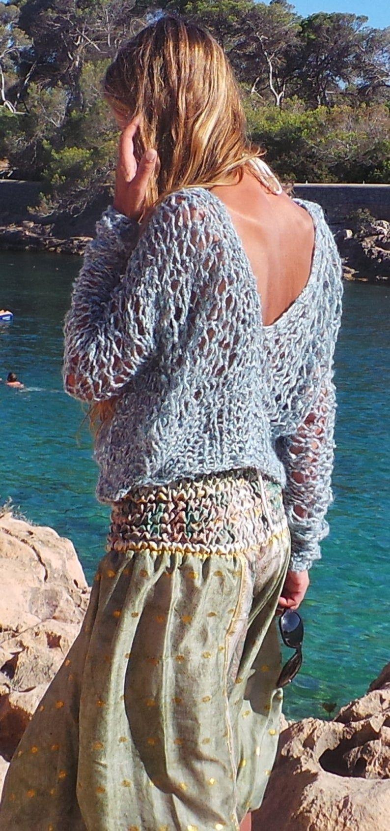 Mens Caleb Classic V-Neck Cotton Cashmere Sweater