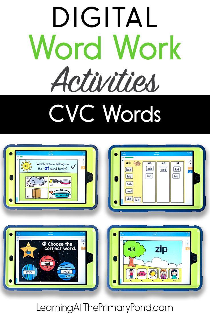 Short Vowels in CVC Words Digital Phonics Activities