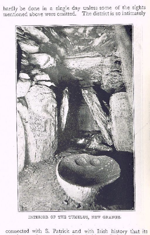 Interior Of The Neolithic Tomb At Newgrange Co Meath Ireland C 1895 Ireland History Irish History Archaeology