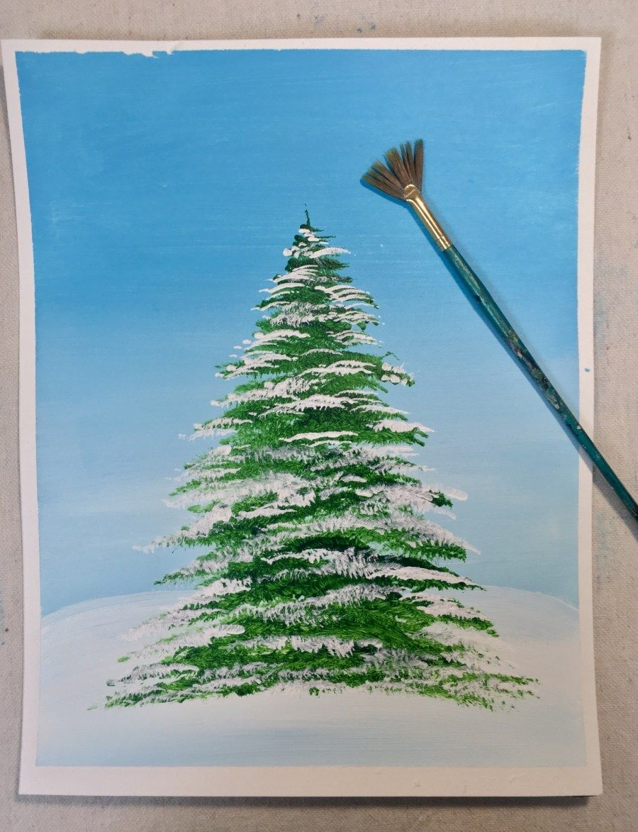 How To Paint A Christmas Tree Painting Paintings
