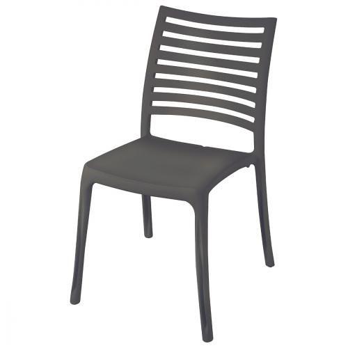 Grosfillex Chaise De Jardin Sunday Anthracite Table Et Chaises