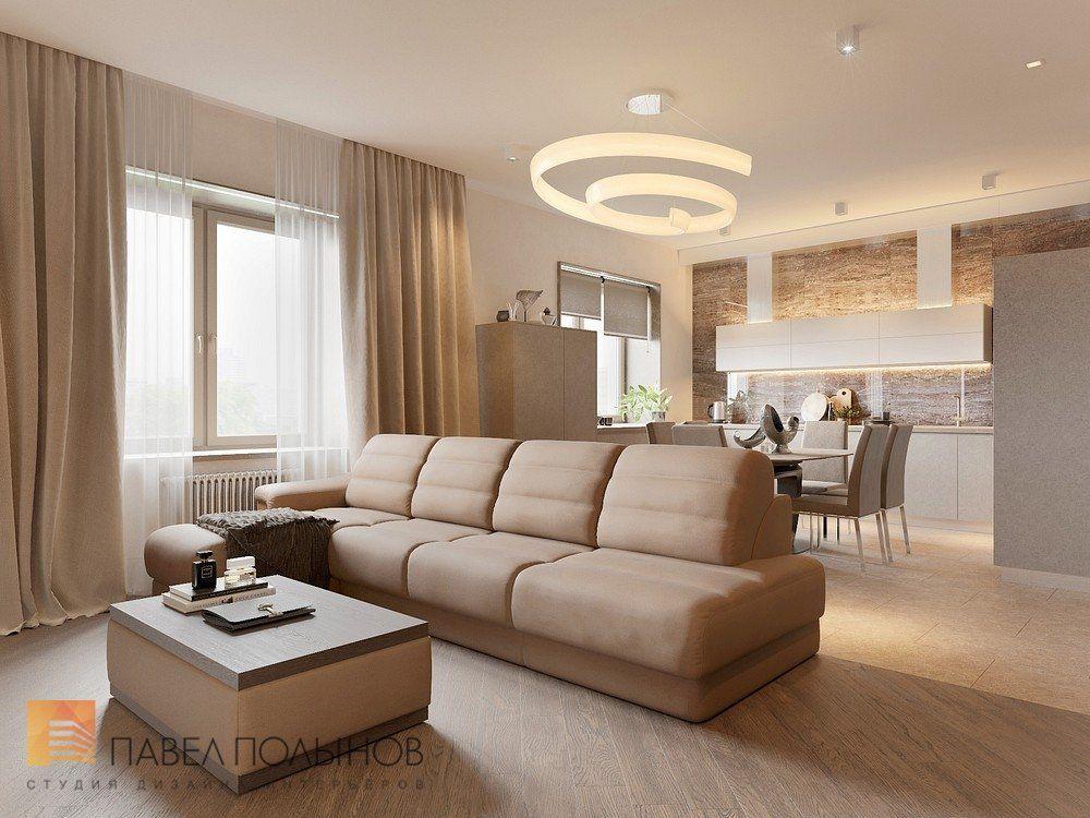 Фото кухня-гостиная из проекта «Интерьер квартиры в стиле ...