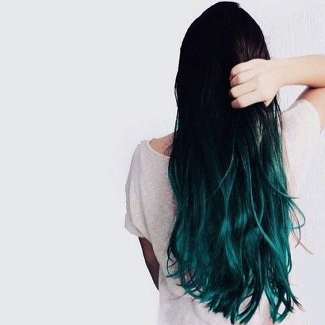 Teal Turquoise Brown Dark Colored Hair Hair Styles Dyed Hair