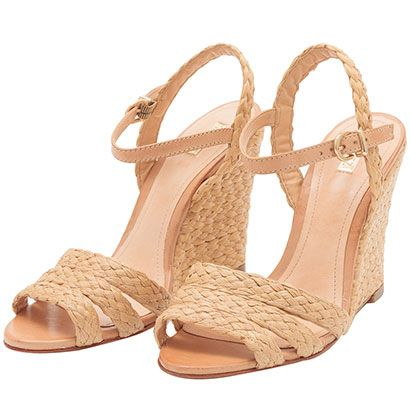 816457489 SCHUTZ Sandália anabela trançada palha … | cool shoes in 2019…