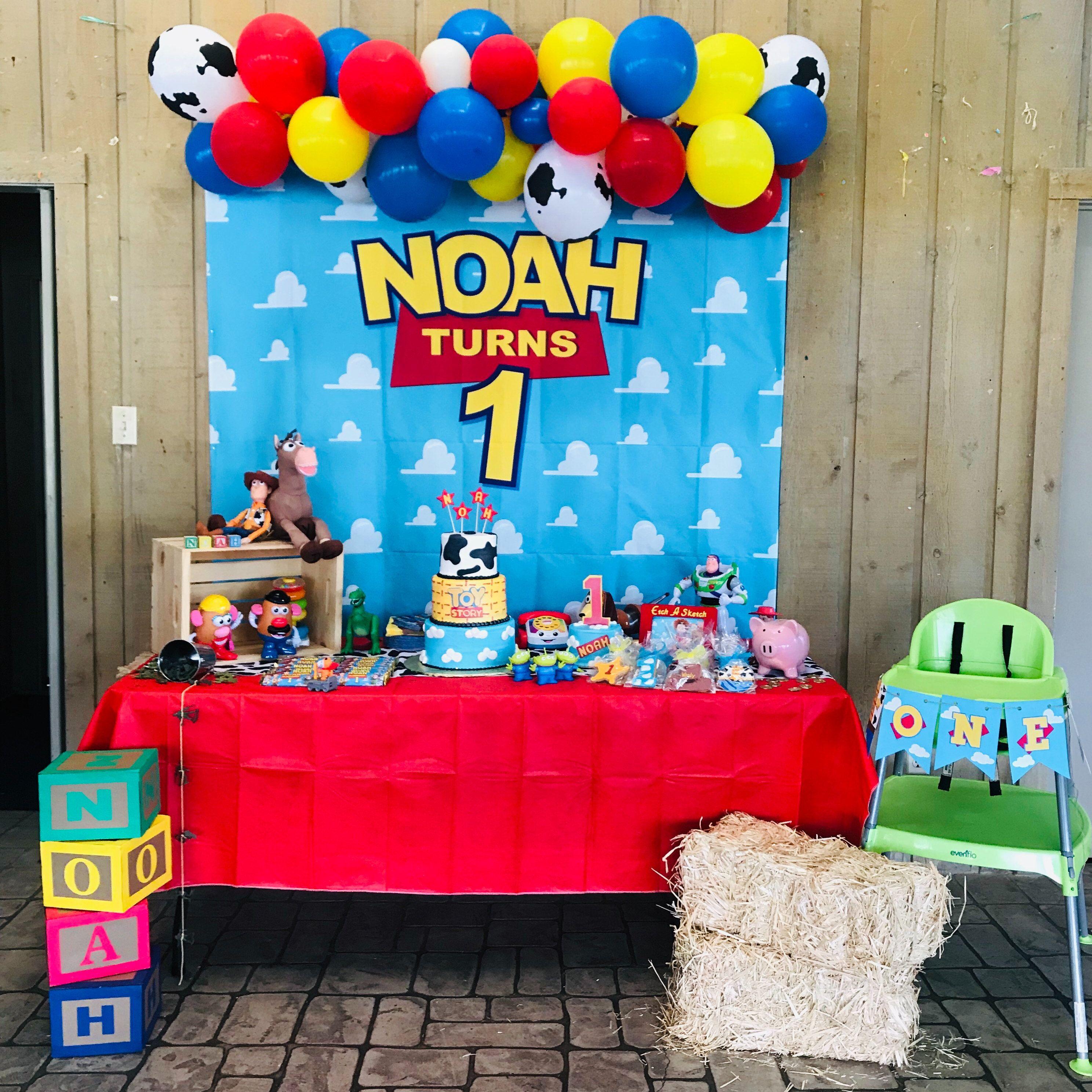 Balloon garland diy kit toy story theme in 2020 birthday
