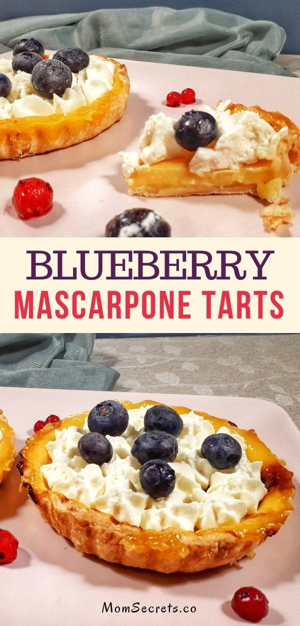 Blueberry Marcarpone Mini Tarts with Frozen Puff Pastry  – Fancy Yummy Desserts