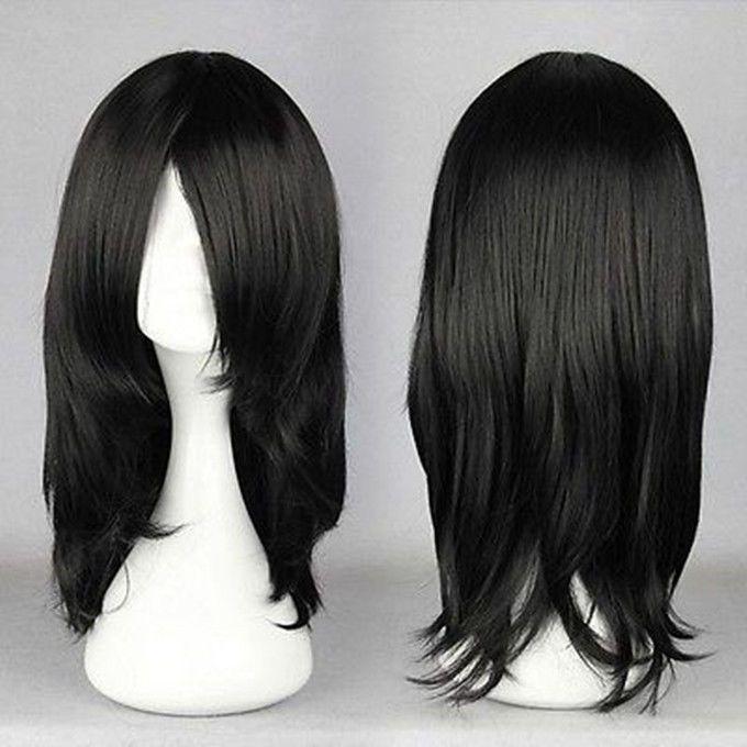 Cheap 55cm Medium Orochimaru Black Anime Cosplay Costume Wig