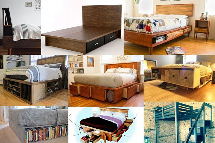 9 Space-Making Wood Storage Beds