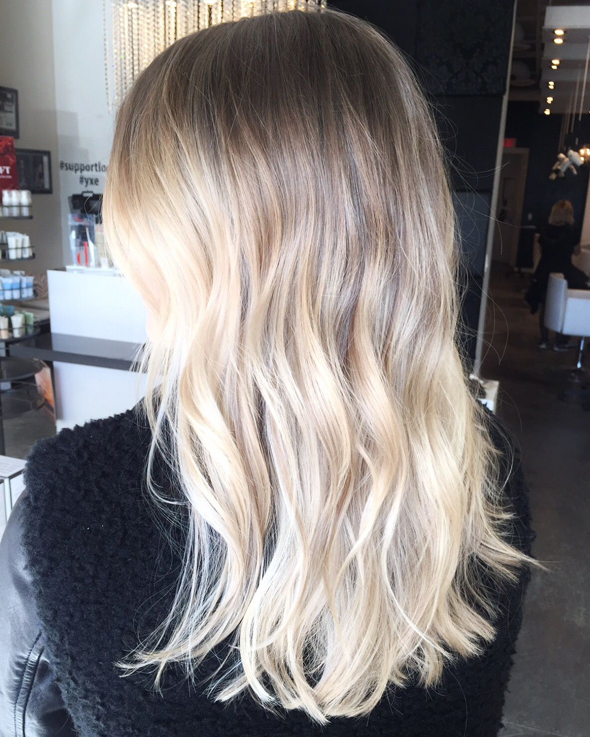 Beautiful Blonde Balayage Ombre With Blended Highlights And A
