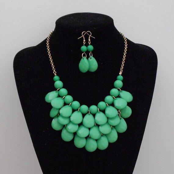 Teardrop necklace droplet necklace beadwork necklace by shop2lopez, $4.99