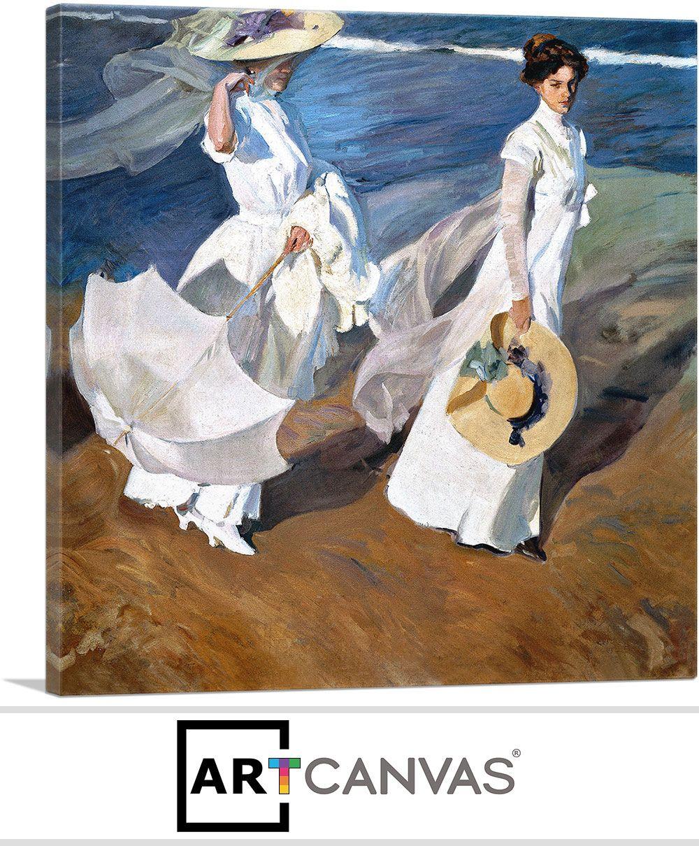 Seaside Stroll Women Walking On The Beach 1909 아크릴화
