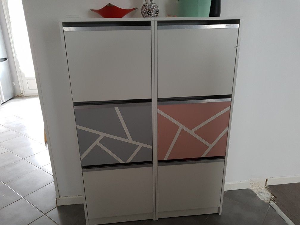 Pin by Karine Tedbirt on Customiser un meuble à chaussures IKEA