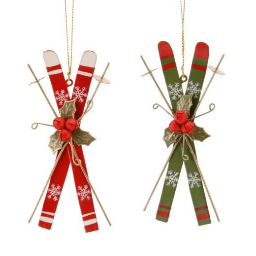 nordic ski christmas tree decoration christmas decorations gifts the contemporary home - Ski Christmas Decorations