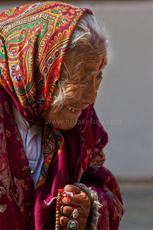 Nepali Elder Smile - Instant Digital Download Travel Image from of Swayambhunath Temple in Kathmandu by NLKStockPhotography on Etsy